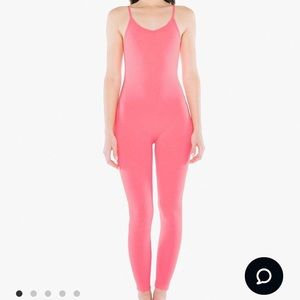 American Apparel Pink catsuit